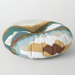 Winter Lake Floor Pillow