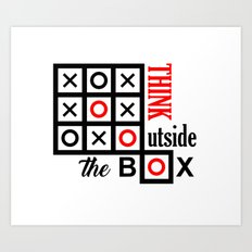 outside the box Art Print
