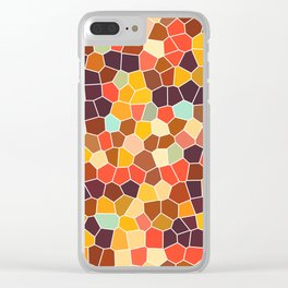 Colorful stained glass Clear iPhone Case
