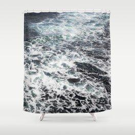Getting lost in Ocean hues Shower Curtain