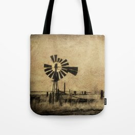 Old Windmill • Sepia • Western • Infrared • Texture Tote Bag