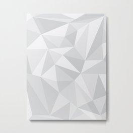 White Deconstruction Metal Print