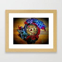 Roses and Wood Framed Art Print