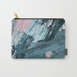 Wilmington: a colorful abstract acrylic piece in pinks and blues Carry-All Pouch
