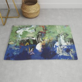 Finback Abstract Blue Green Rug