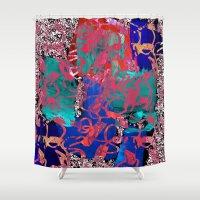 jazz Shower Curtains featuring Jazz by Lara Gurney