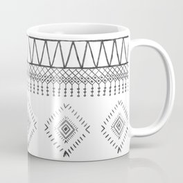 Gray Boho Aztec Coffee Mug