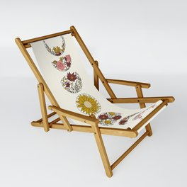 Floral Phases of the Moon Sling Chair