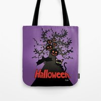 halloween Tote Bags featuring Halloween by BATKEI
