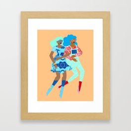 Spring in Our Step Framed Art Print