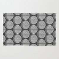 death star Area & Throw Rugs featuring Star Wars Death Star by foreverwars
