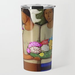 Flowers of Mexico, Angel's Trumpet, Tiger Lilies, Bougainvillea,& Peonies by Alfredo Martinez Travel Mug