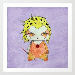 A Girl - Cheetara (Thundercats) Art Print