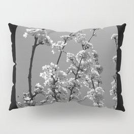 Tree Blossoms in Black and White Pillow Sham
