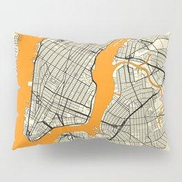 New York Map Moon Pillow Sham