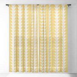 Maude Pattern - Golden Sheer Curtain
