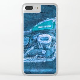 2016 Harley Sportster Roadster 1200 BLUE, motorcycle art for men Clear iPhone Case
