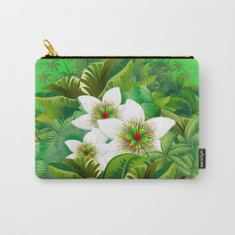 Passion Flowers on Tropical Jungle Carry-All Pouch