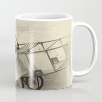 airplane Mugs featuring Airplane by DistinctyDesign