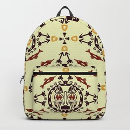 pattern with Tribal mask ethnic Backpack