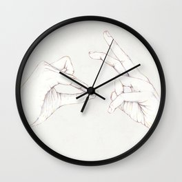 The Hair and the Tortoise Wall Clock