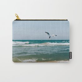 Gull Flight Over Lake Michigan Carry-All Pouch