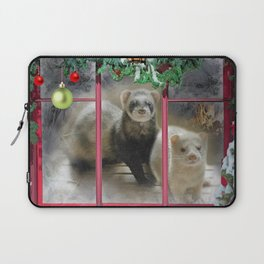 Ferrets the Night Before Christmas Laptop Sleeve