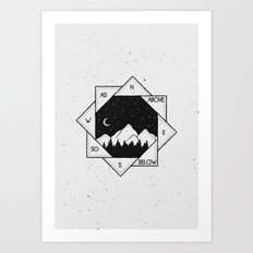 As Above, So Below Art Print
