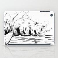 beaver iPad Cases featuring Beaver Yawn by Angela B Comics