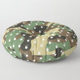 BOMB PATTERN - CAMO & WHITE - LARGE Floor Pillow