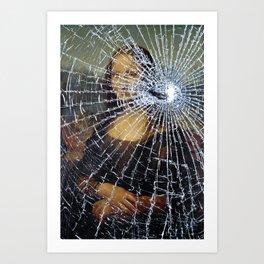 Mona Lisa Shattered Art Print