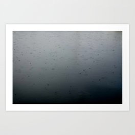 raindrops, south lake union Art Print
