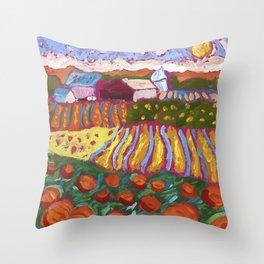 Iowa Barn Throw Pillow