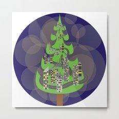 Tree City Metal Print