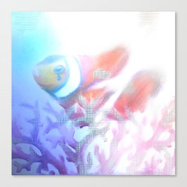 SOS - Save our Scales. Stop the destruction of the reef Canvas Print