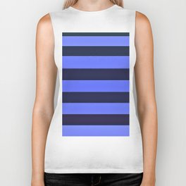 Blue and Navy Stripes Biker Tank
