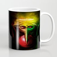 evangelion Mugs featuring Sachiel the Risen. 3rd Angel of Evangelion Digital Painting by Barrett Biggers