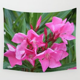 Pink Oleander Bouquet Closeup  Wall Tapestry