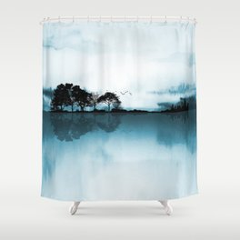 Nature Guitar Blues Shower Curtain
