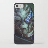 mass effect iPhone & iPod Cases featuring Mass Effect: Garrus Vakarian by Ruthie Hammerschlag