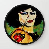 frank Wall Clocks featuring Frank by FreeBird Studios