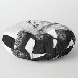 Mischievous Veronica Lake, Hollywood Starlet, black and white photograph / black and white photography Floor Pillow