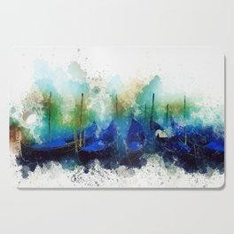 Venice Gondola painting Cutting Board