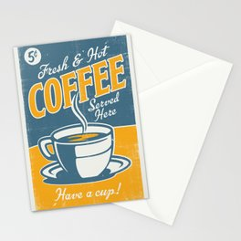 Vintage poster- Coffee Stationery Cards