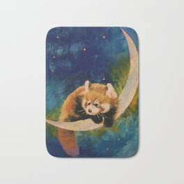 Red Panda Moon Bath Mat