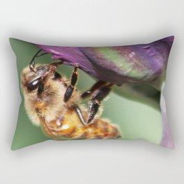 Fuzzy Little Bee Rectangular Pillow