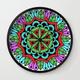 Optical Flowers Nature Wall Clock