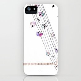 Love and birds iPhone Case