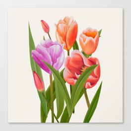 Colorful Flower Bouqet Painting Canvas Print