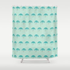 Umbrella Falls Shower Curtain
